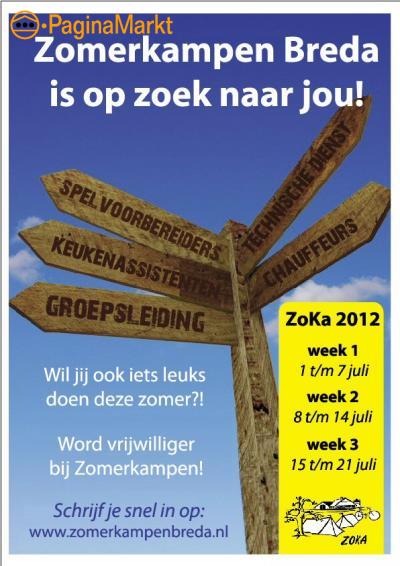 Stichting Zomerkampen Breda zoekt vrijwilligers!