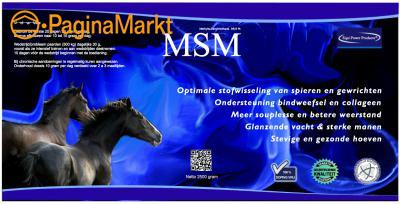 MSM voor paarden met spier of gewrichtsproblemen