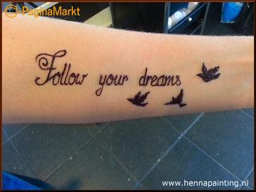 Tijdelijk Tattoo NET ECHT! (10-14 dagen)
