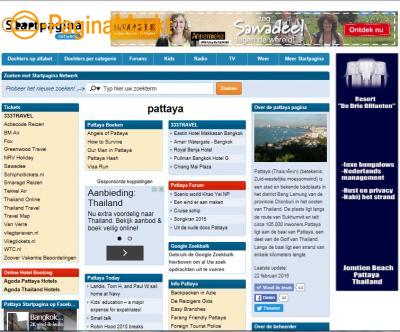 Advertentie ruimte op de Pattaya Startpagina