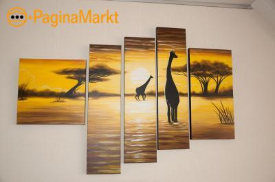 5 luik schilderij