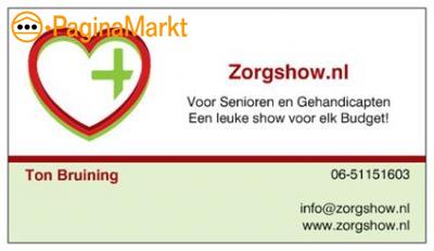 Zorgshow, Entertainment voor de Zorg