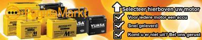 Motor Accu's van Yuasa en Motobatt online te koop