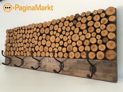 Unieke handgemaakte hardhouten kapstok