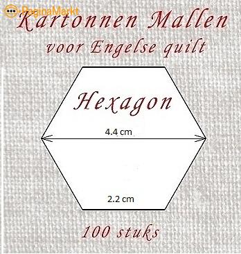100 Hexagon malletjes 2.2 cm