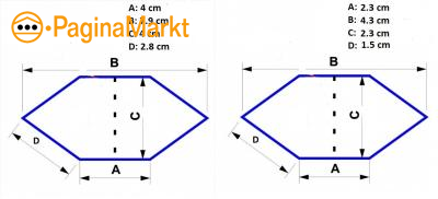 Hexagon (gerekte/ lange)
