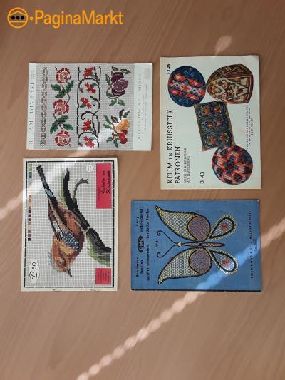 antieke borduurboekjes