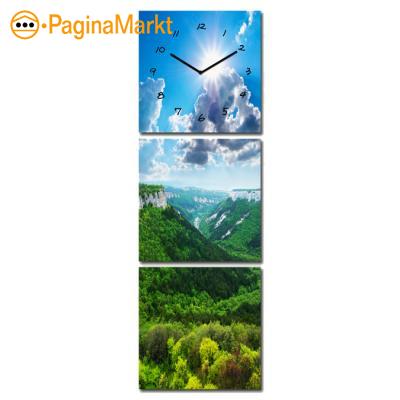 Canvas Klok met Afbeelding