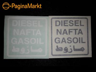 Diesel nafta gasoil sticker