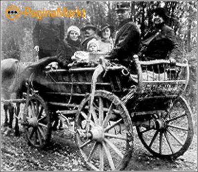 Antieke paardenwagen