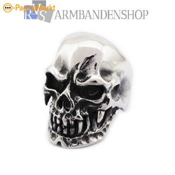 div Rvs heren ringen hangers Harley Biker Skull Dr
