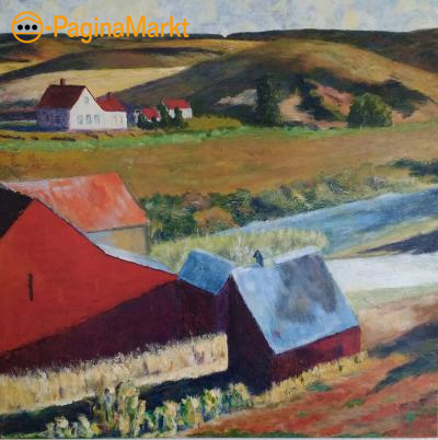 Hopper Landschap in acryl