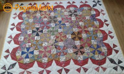 handgemaakte quilt