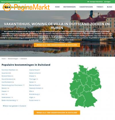 Vakantiehuisje in Duitsland huren?