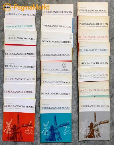 24 jaarboekjes van de Ver. De Hollandsche Molen