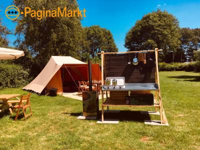 Ingerichte tenten op Camping in Noord Holland