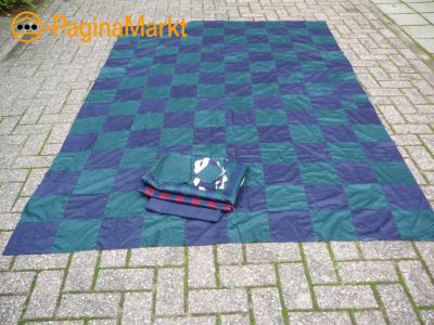 Grote patchwork top en stof voor de achterzijde
