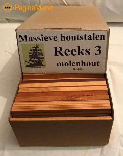 Massieve houtstalen - molenhout 24 stuks