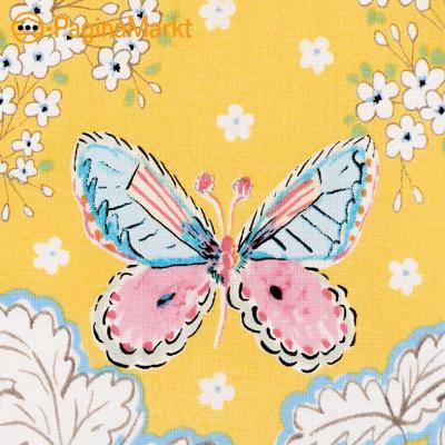 Vlinder stof, katoen met een vlinder print
